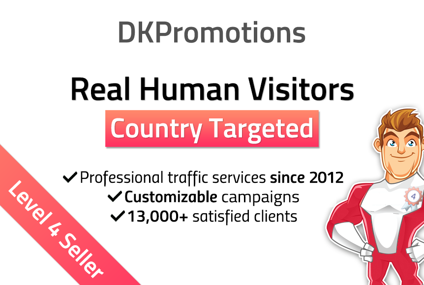 Send 10,000 weekly TARGETED Real Human Visitors to your website