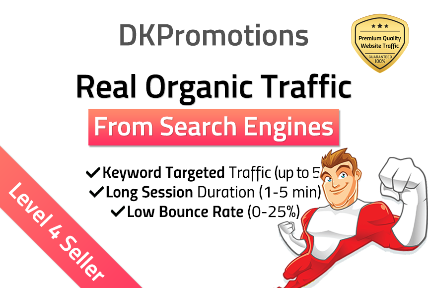 ORGANIC Keyword Targeted Search Engine Traffic w/ Bounce Rate Booster
