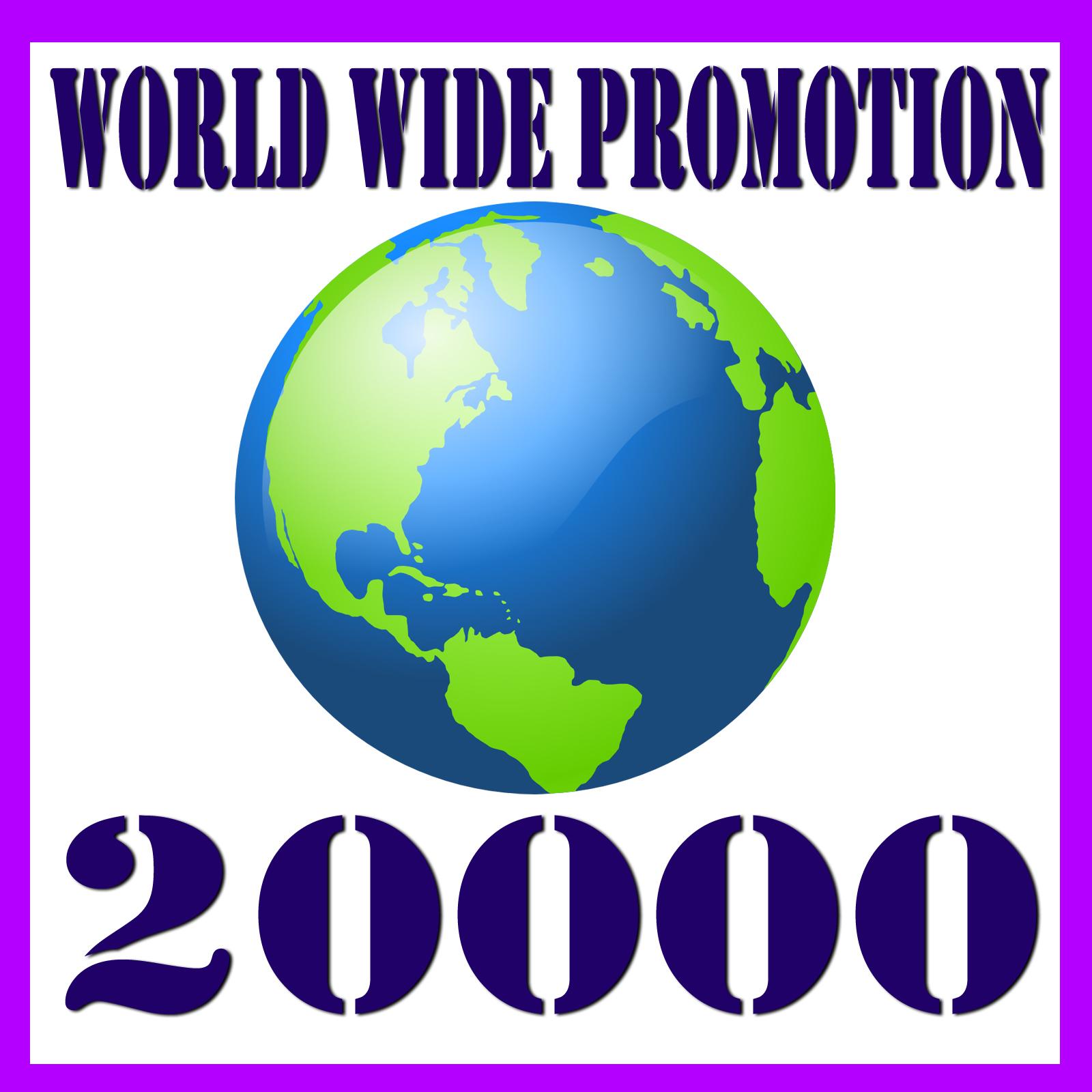 20,000+ website traffic world wide promotion package