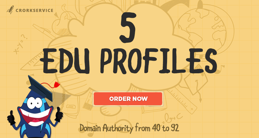 5 EDU Profiles - Most Trusted SEO Backlinks