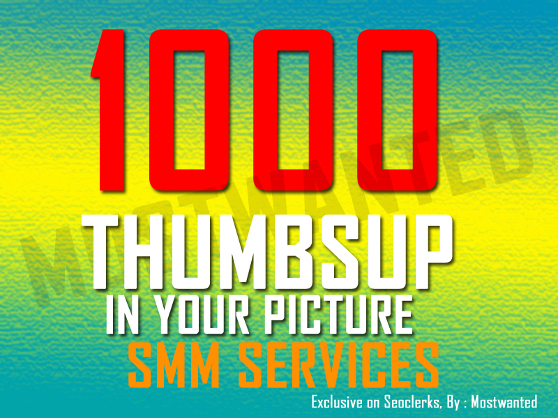 GET 1000 THUMBS UP TO YOUR PIC WITHIN 24 HRS