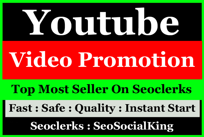 High Quanlity YouTube Video Seo Marketing Promotion for Video Ranking
