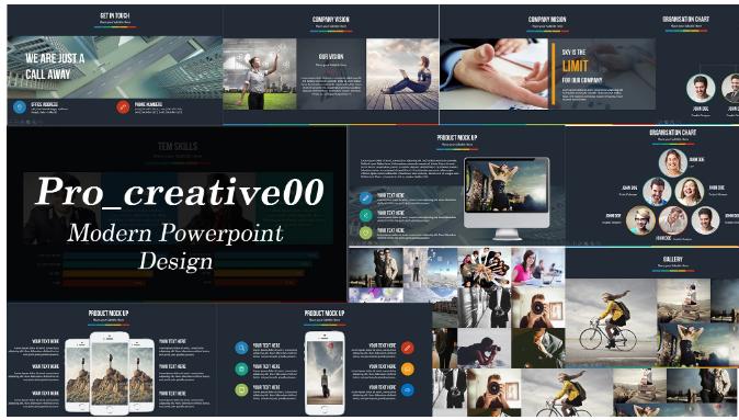 create modern powerpoint presentation design and template