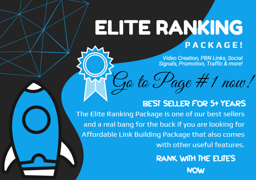 Elite Ranking Package - Video Creation,  3000 PBN Links and Social Signals,  DA UP TO 30 and promotion