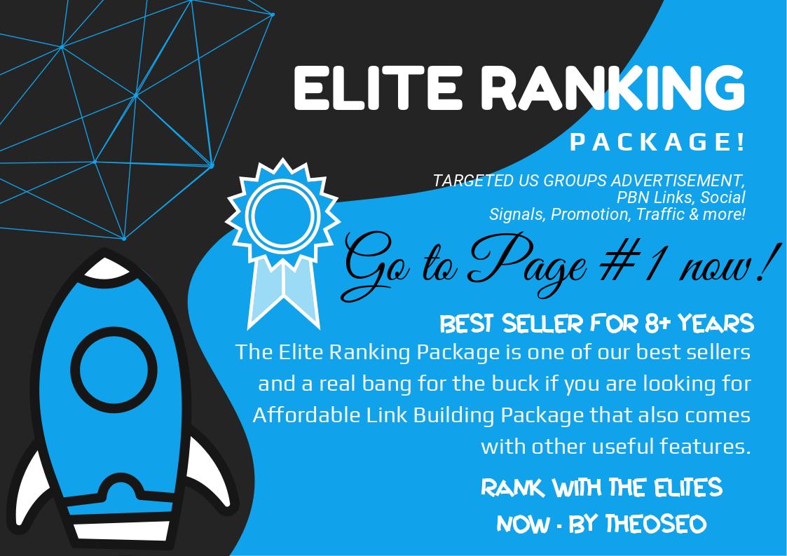 Elite Ranking Pack - US Advertisement, 3000 Social Signals, 50 PBN Backlinks, 25 Shoutout, Promotion