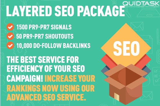 Layered SEO Package - 1500 PR9 Social Signals - 100 Backlinks - 50 Shoutouts to 1 MILLION Audience