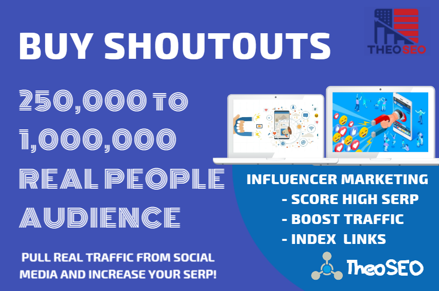Organic Shoutouts - 25 SEO Shoutouts from Authority Pages - 250,000 Audience - INFLUENCER TRAFFIC