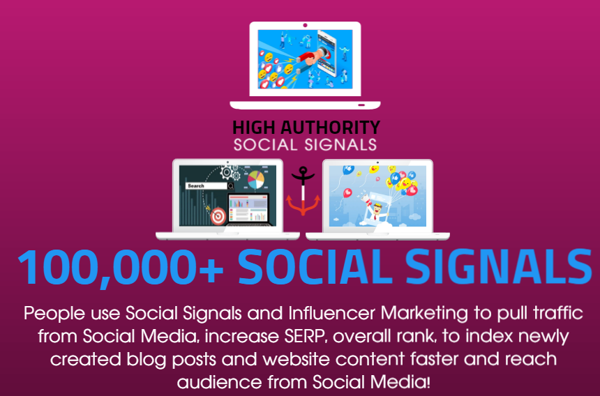 GET 100.000 SOCIAL SIGNALS ON HIGH AUTHORITY PAGES TO BOOST YOUR RANK,  TRAFFIC AND SEO SCORE