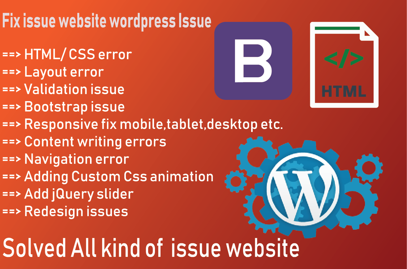 Fixed Website all issue html, css, bootstrap and re...