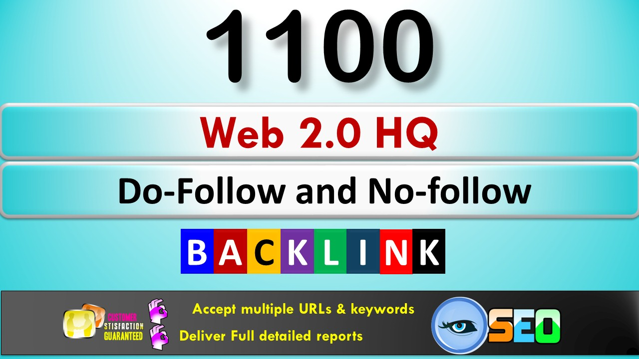 Get 1100+ 1web 2.0 HQ Backlinks in your Site