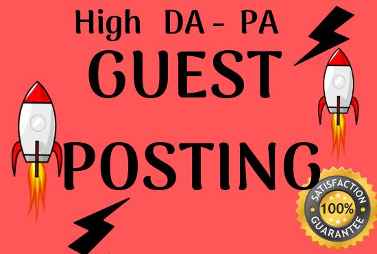 Write And Publish 10 High DA 60 to 90 Unique Guest Post