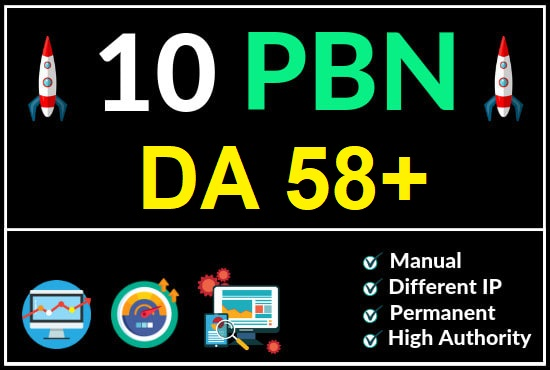 DA 58 to 62 Manually Build 10 UNIQUE HOMEPAGE PBN backIinks