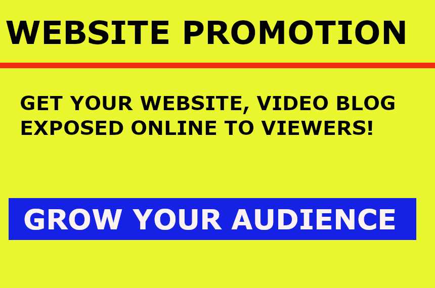 Website Promotion - Get your Site Exposed to Many Online