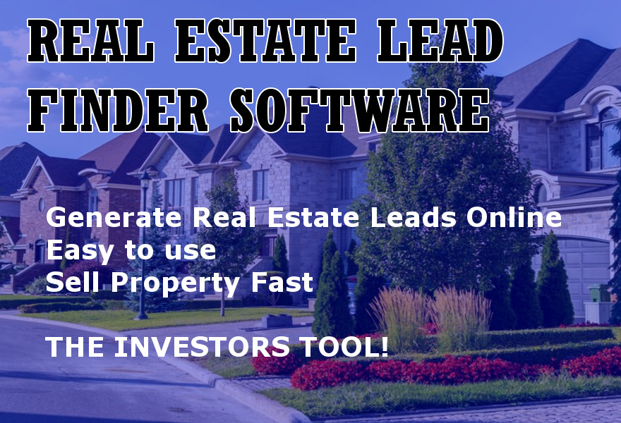 Make tons of Cash with this Great Money Making system Real Estate Lead Finder Software