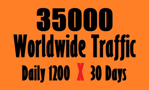 1200 Daily Traffic Worldwide for one Month