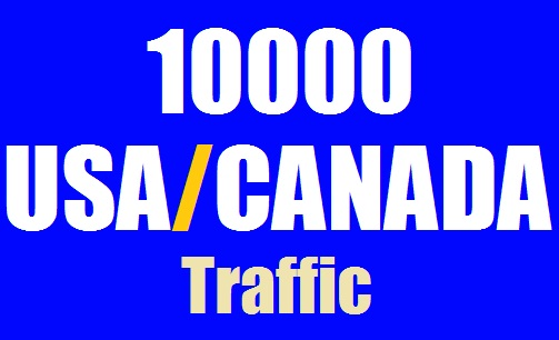 10000 USA and CANADA Web Traffic for 10 days