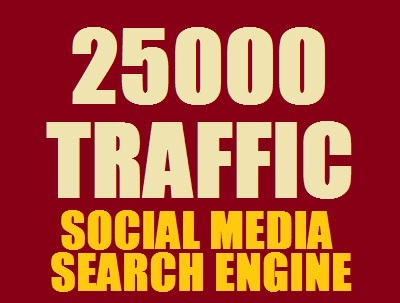 Real 25,000 + Web Traffic WORLDWIDE from Search Engine and Social Media