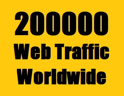 200000 Web Traffic Worldwide from Search Engine and Social Media