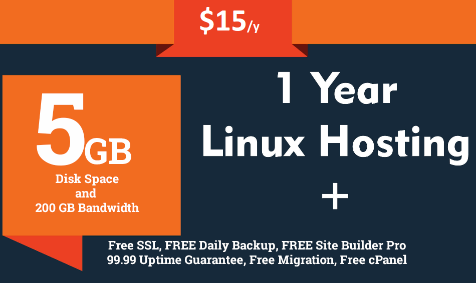 provide 5gb ssd cloud web hosting for year