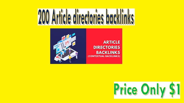Provide 200 Article directories backlinks contextual backlinks