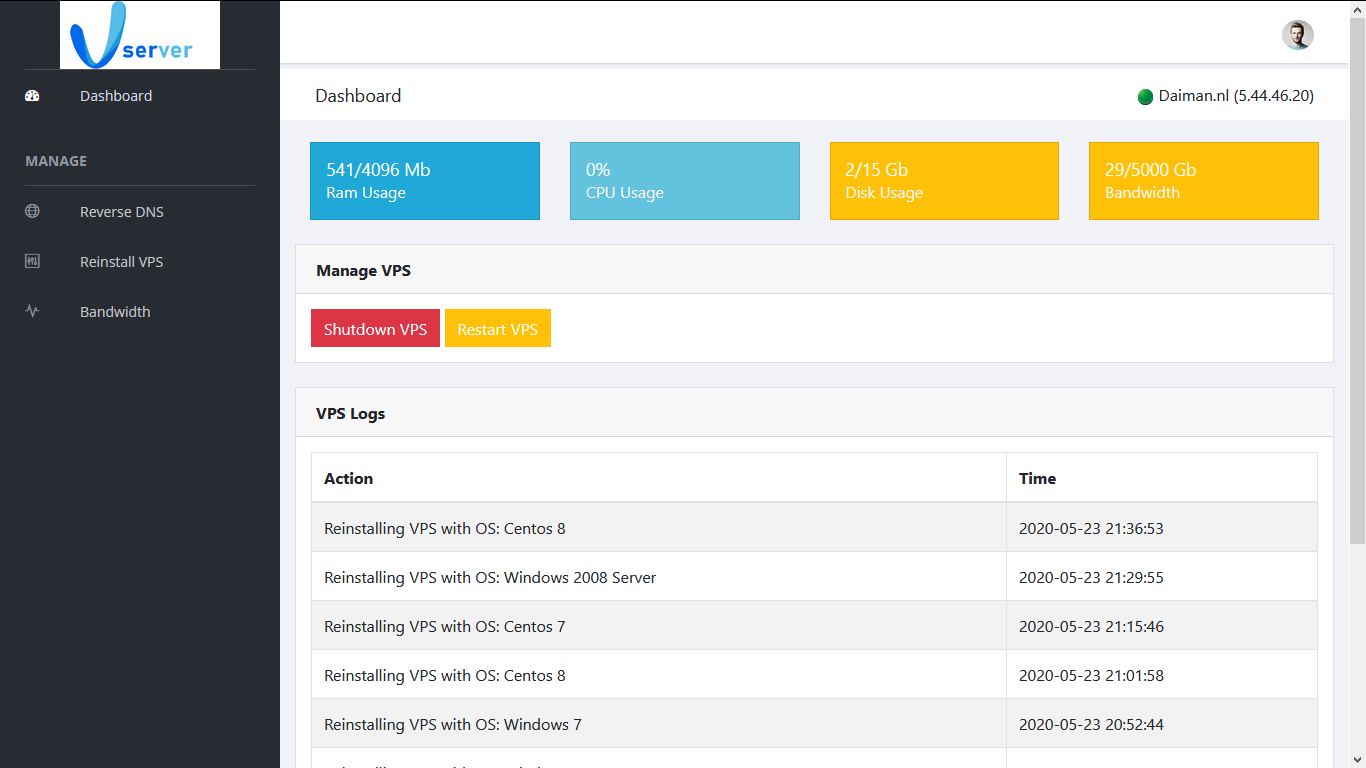 Sell your own VPSes to your clients Package for 12 VPSes