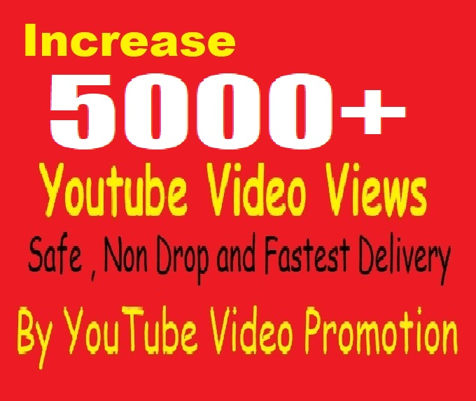 For Non-Drop 5000 Youtube Video Promotion and Marketing