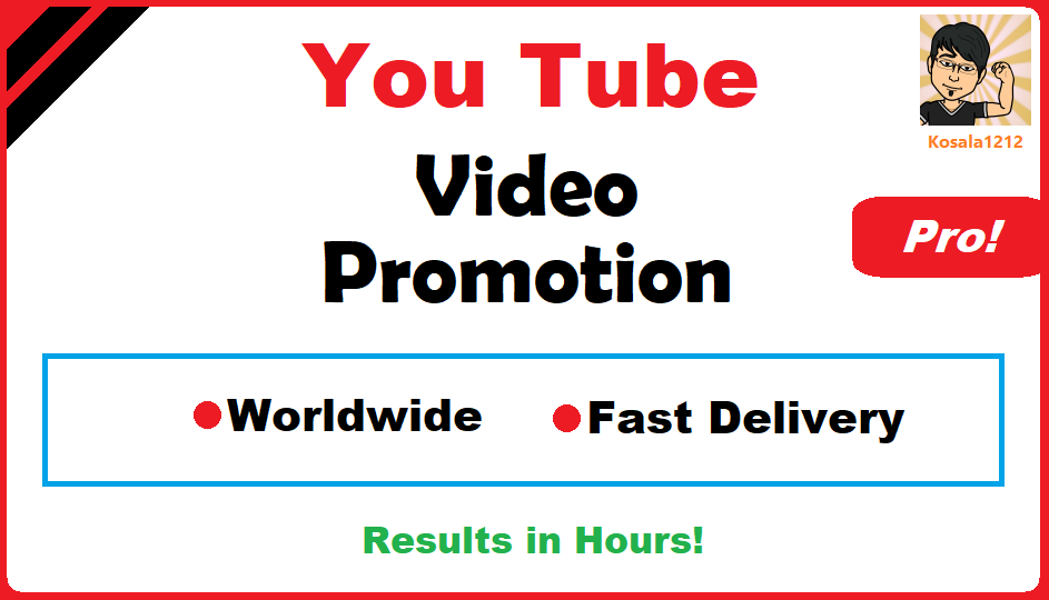 YouTube Video Viral Marketing Promotion Pro Package 3