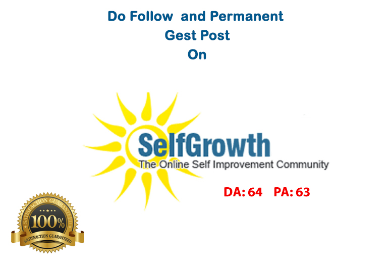 Publish an Article on selfgrowth DA 64 with Dofollow link