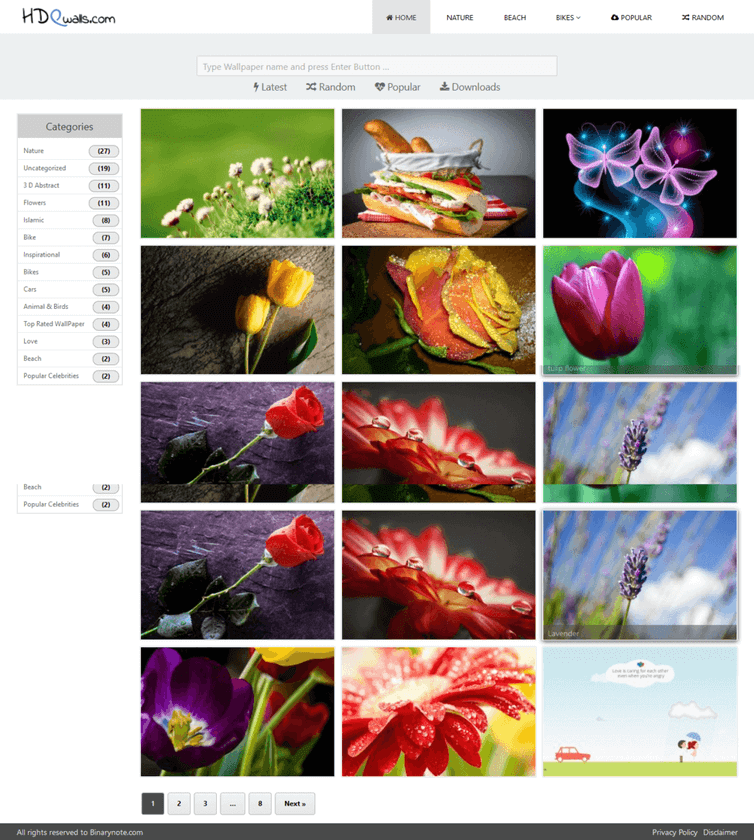 Wallpaper WordPress theme Jahangir for Photo Blogging