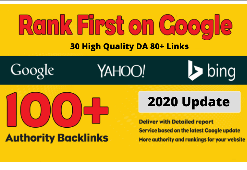 40 High Quality DA 80+ Links,  Boost Google Ranking