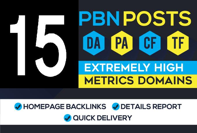 Build 15 High DA Upto 50+ Do-Follow PBN Permanent Link
