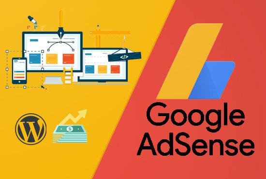 I will Design Google Adsense Approve Unique Website