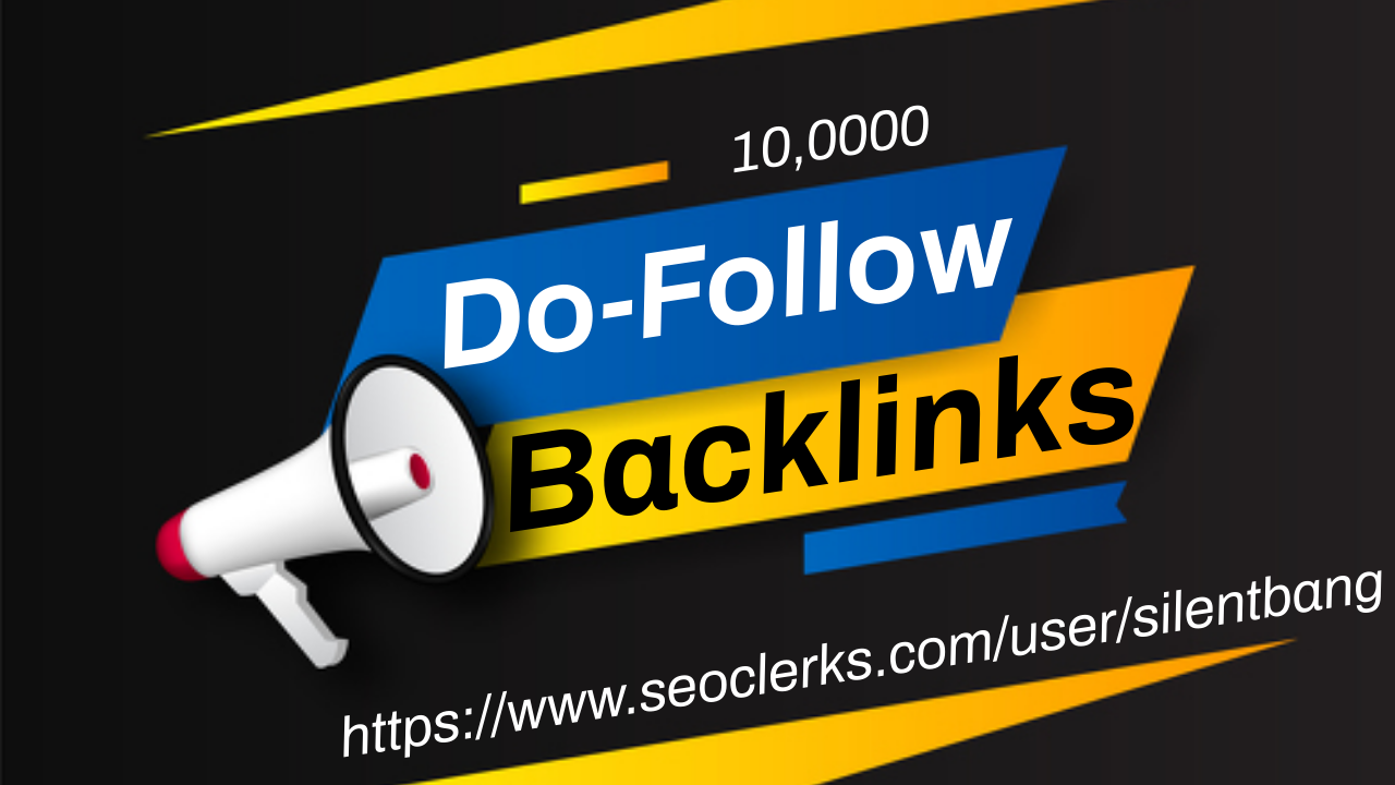 10000 SEO DoFollow Backlinks Bookmarks Package For Ranking Website Traffic On Google 1st Page