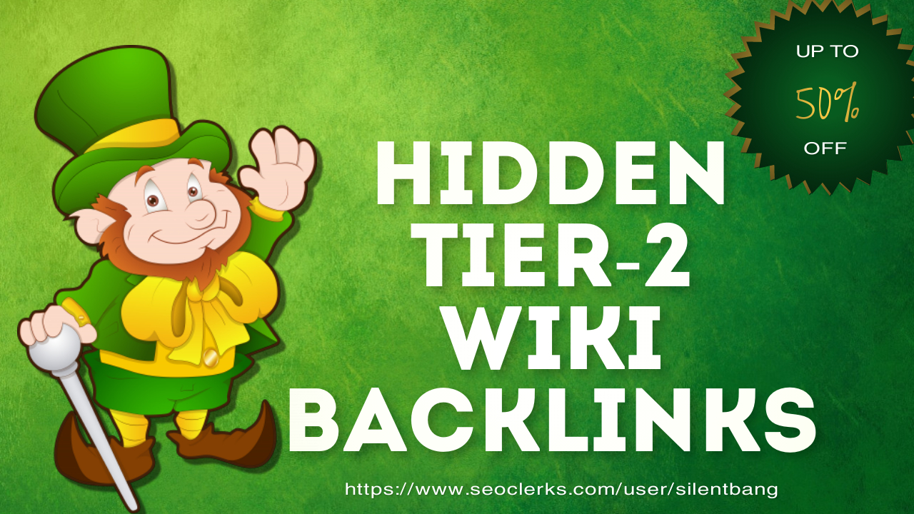 Hidden Tier2 Wiki Backlinks Bookmarks Package For Ranking Website Traffic On Google 1st Page