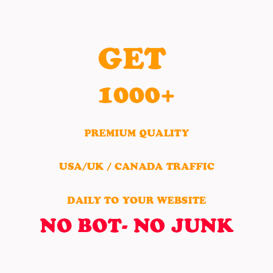 Get 1000+ Premium quality USA/UK / CANaDA traffic DAILY to your website