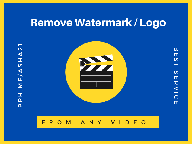 I will Remove Watermark / Logo From Any Video