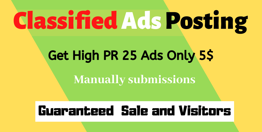 Post Your Ads Business,  Service,  Product top Rated USA Classified Sites Manually
