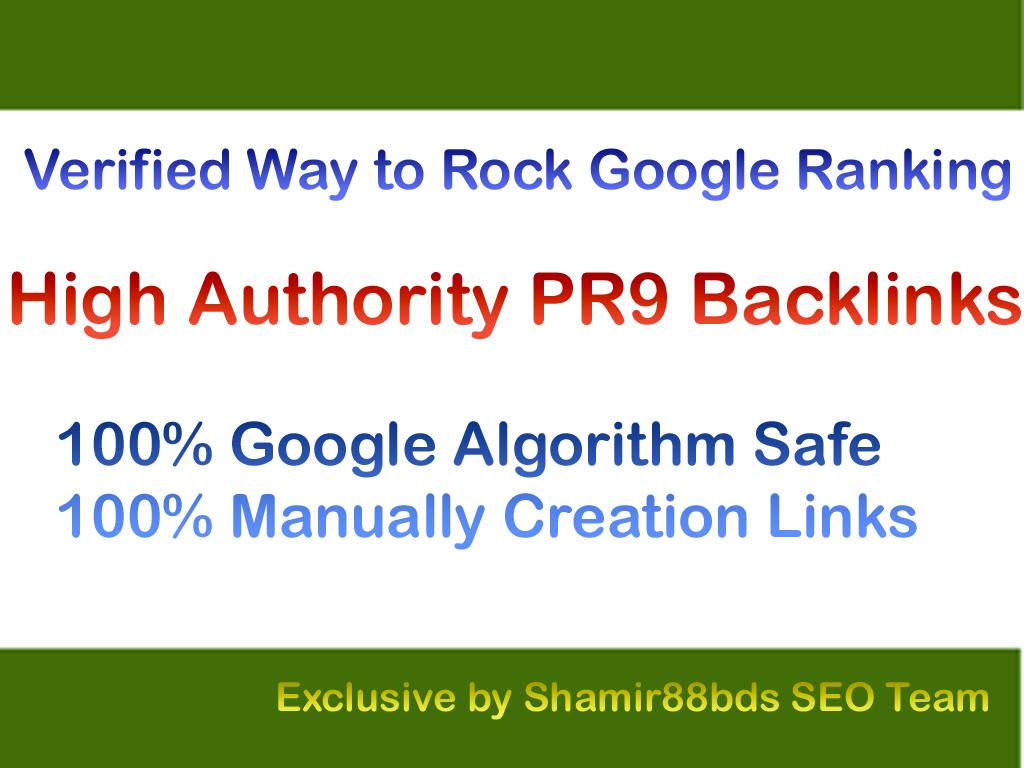 Verified 30 High Authority PR9 Backlinks to Rock Google Ranking