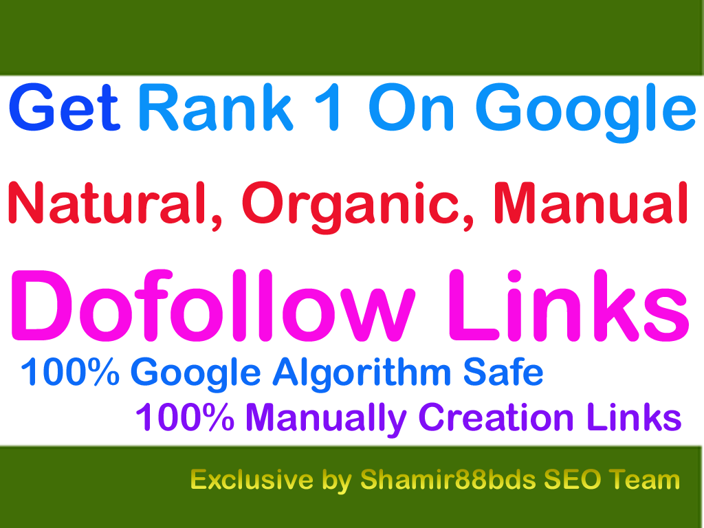Unique 500 DA30-100 Best Dofollow Links To Rank 1 On Google