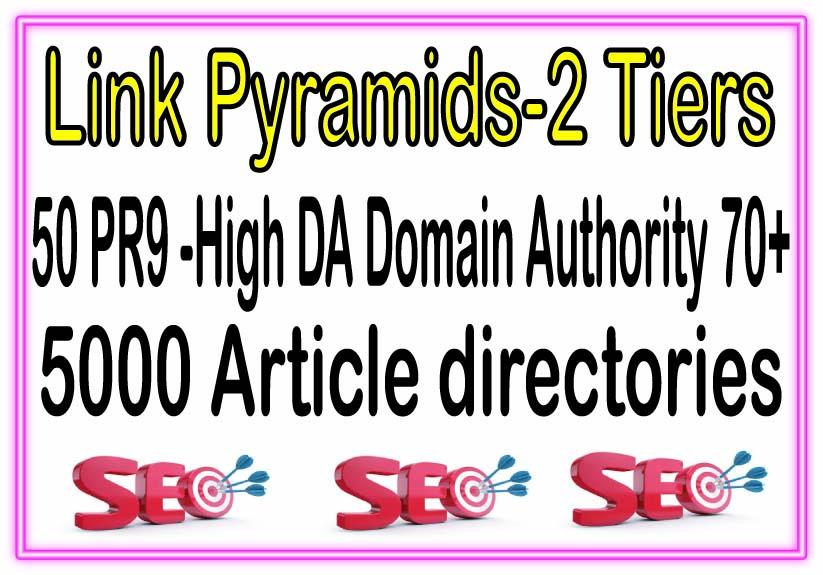 50 PR9 -High DA Domain Authority 70+ SEO Backlinks & 5000 Article directories For Your Website Pow