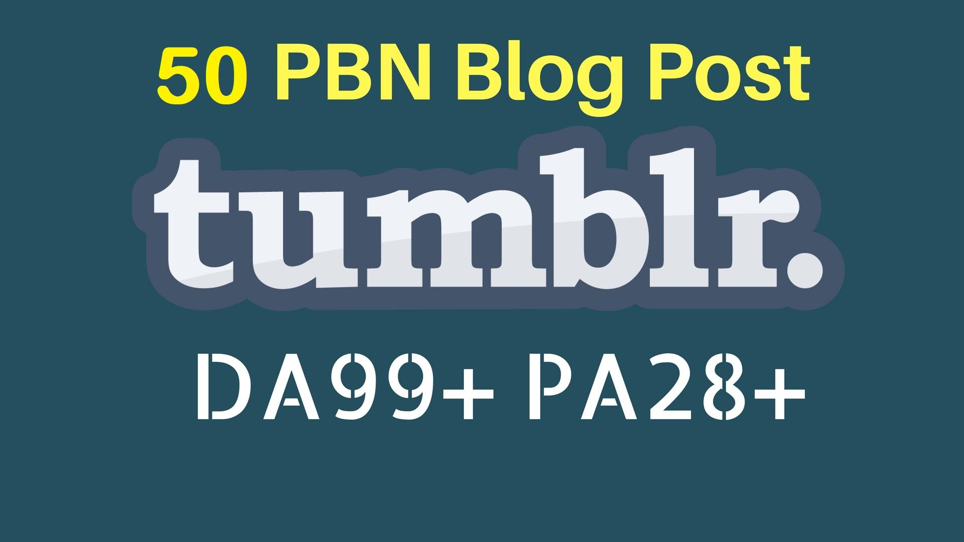 Buy 2 Get 1 FREE PBN 50 High DA98+ PA 28+ Tumblr Backlinks