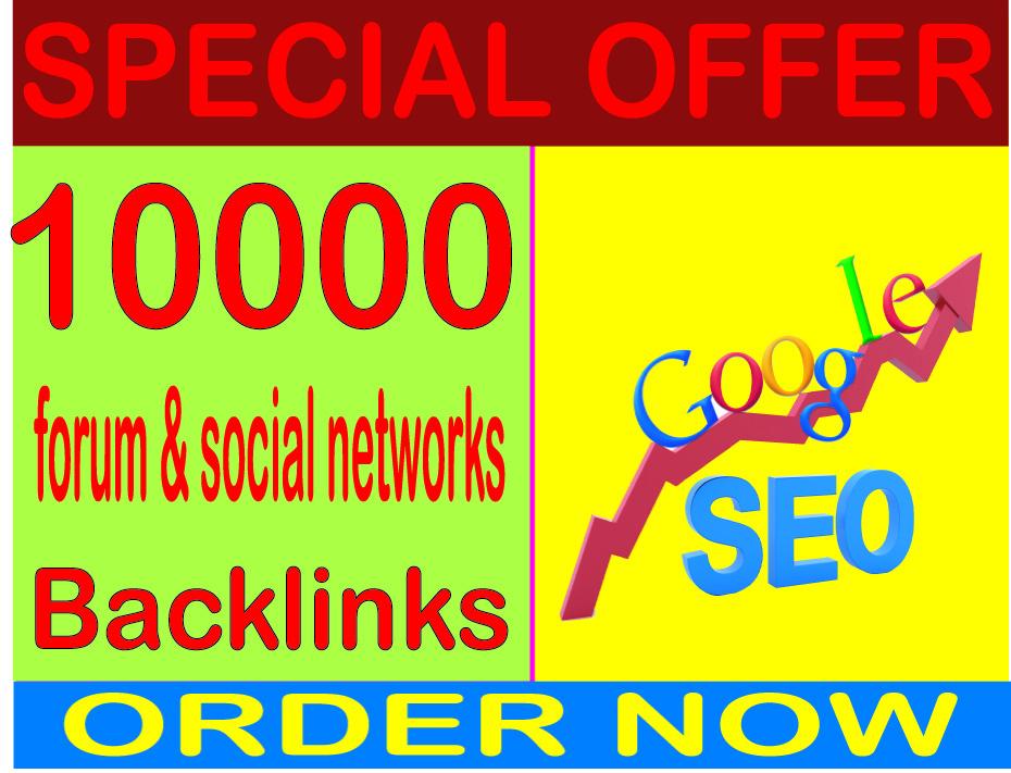 Boost SEO- Create 10000 Forum & Social networks High PR Metrics Backlinks