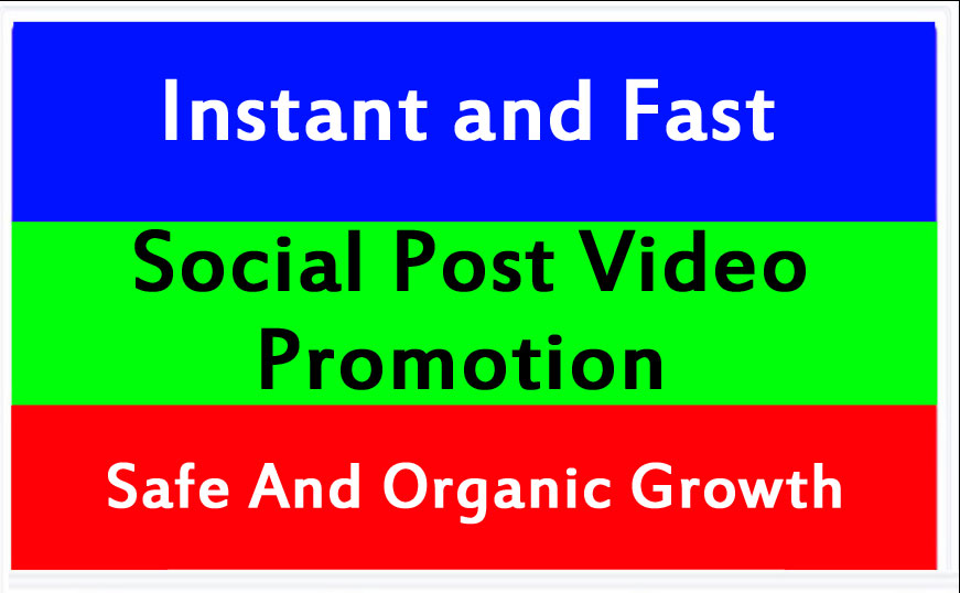 Instant Social Video and post Promotion and Marketing