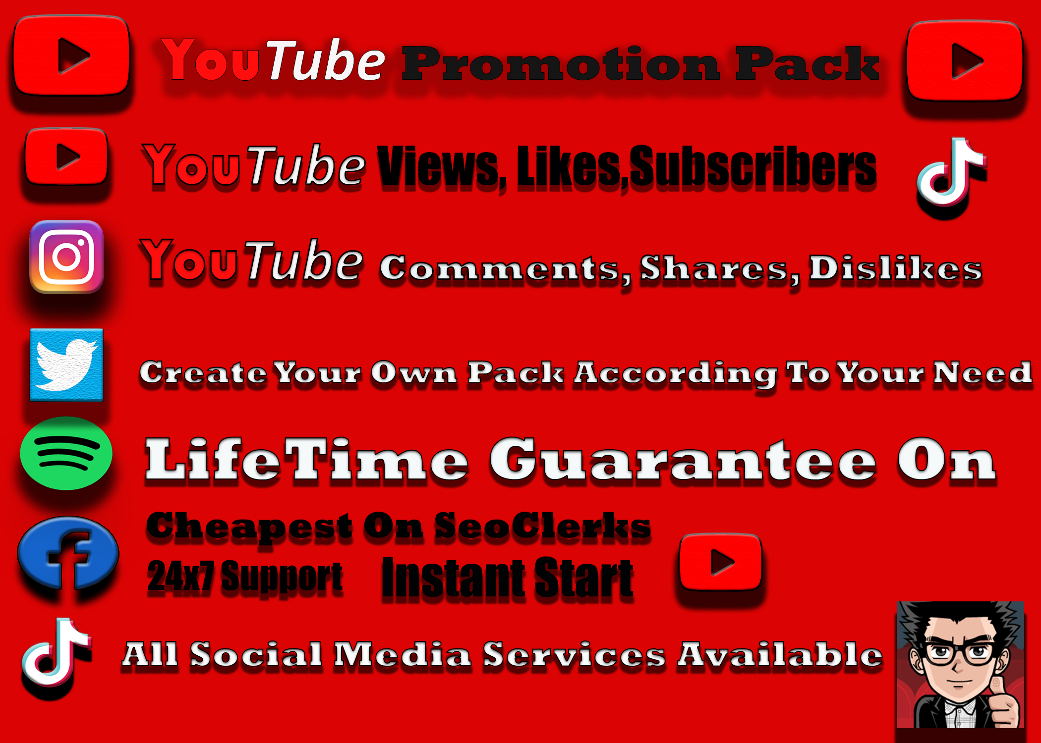 Organic YouTube Video Promotions. 5k 12-24 hr Delivery Non drop