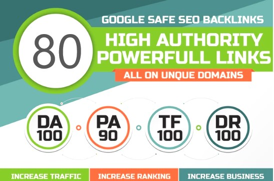 Manual 80 UNIQUE DA100 sites PR10 SEO BackIinks plus 100 WEB2.0 links