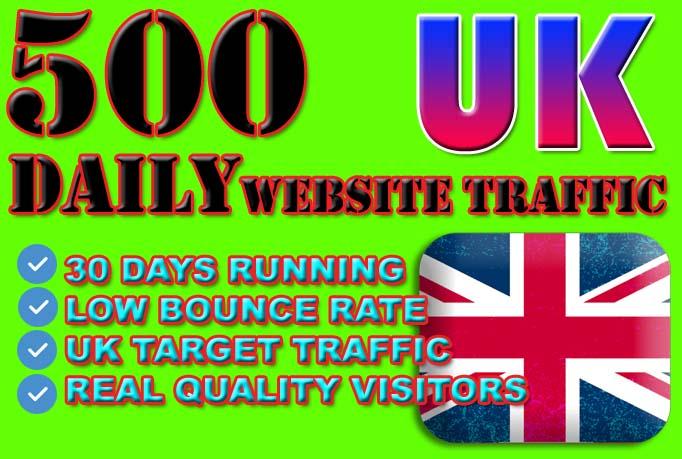 generate 15k targeted website uk traffic for 30 days