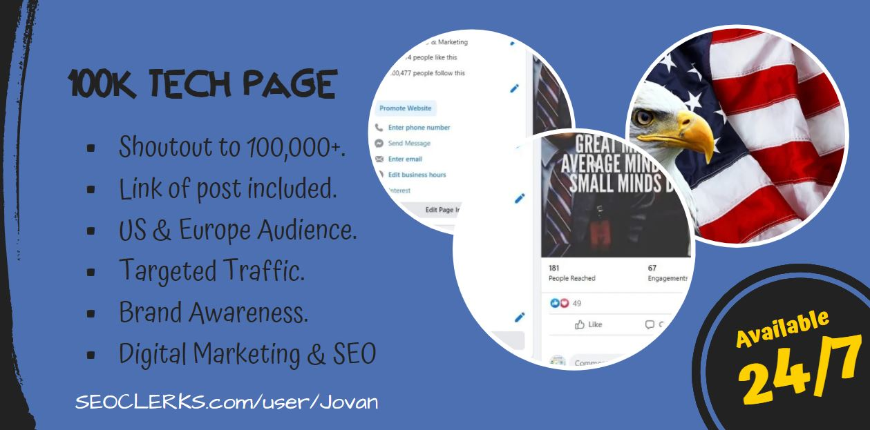Do shoutout promotion to 100K technology and marketing page