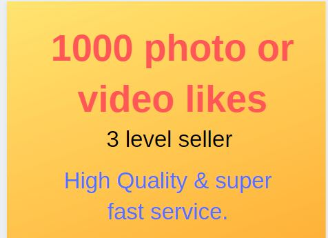 Will instant Promote picture or video link famous Social Media