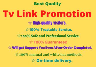 Expert Quality TV link promotion service