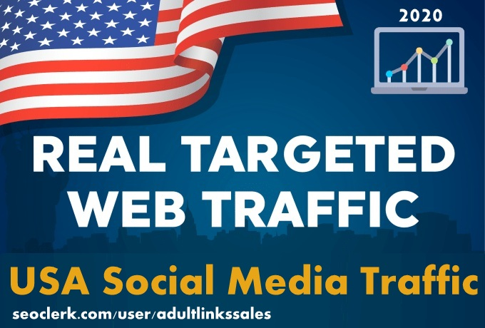 Send 7k-300k USA social media traffic with adsense safe